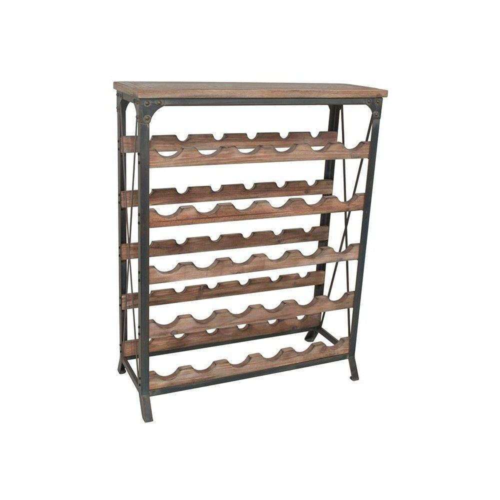 Home Decorators Collection 34 in. H X 28 in. W Barolo Wine Glass Rack