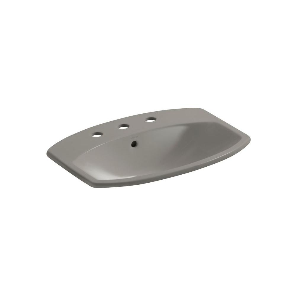 KOHLER Cimarron Drop-in Bathroom Sink in Cashmere-DISCONTINUED