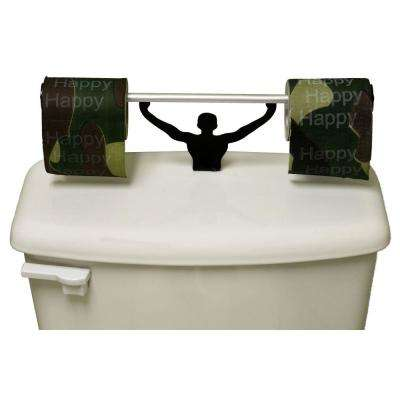 Happy Happy Happy Toilet Paper in Multi-Color with Strong Man Holder Gift Set