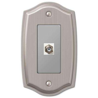 Sonoma 1 Coaxial Wall Plate - Brushed Nickel