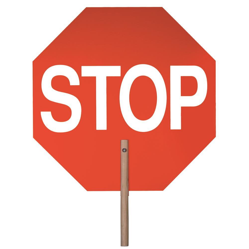 18 in. Handheld Stop/Stop Paddle