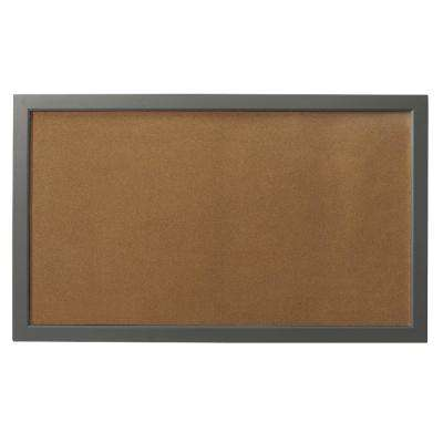 Edinburgh 57 in. W x 34 in. H Cork Board in Grey