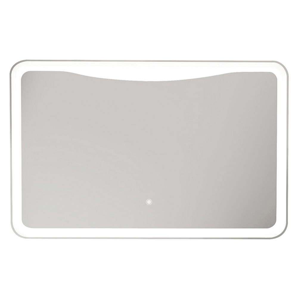 Mason 47.24 in. W x 27.56 in. H Frameless Square LED Light Bathroom Vanity Mirror in Silver