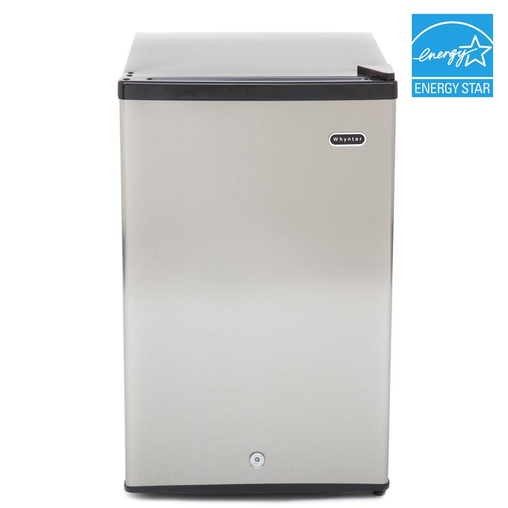 Reviews For Whynter 2 1 Cu Ft Upright Freezer With Lock In Stainless Steel Cuf 210ss The Home Depot
