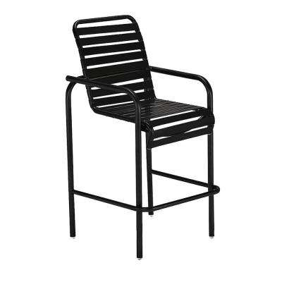 Milan Black Commercial Patio Bar Stool