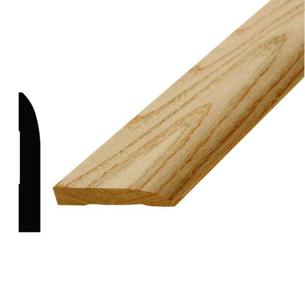 WM 713 1/2 in. x 3-1/4 in. x 96 in. Wood Red Oak Base Moulding