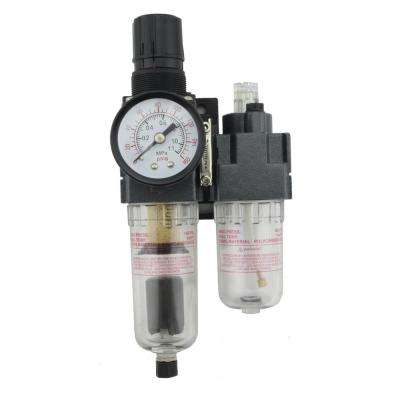 1/4 in. NPT Mini Polycarbonate FRL Air Filter Regulator with Lubricator