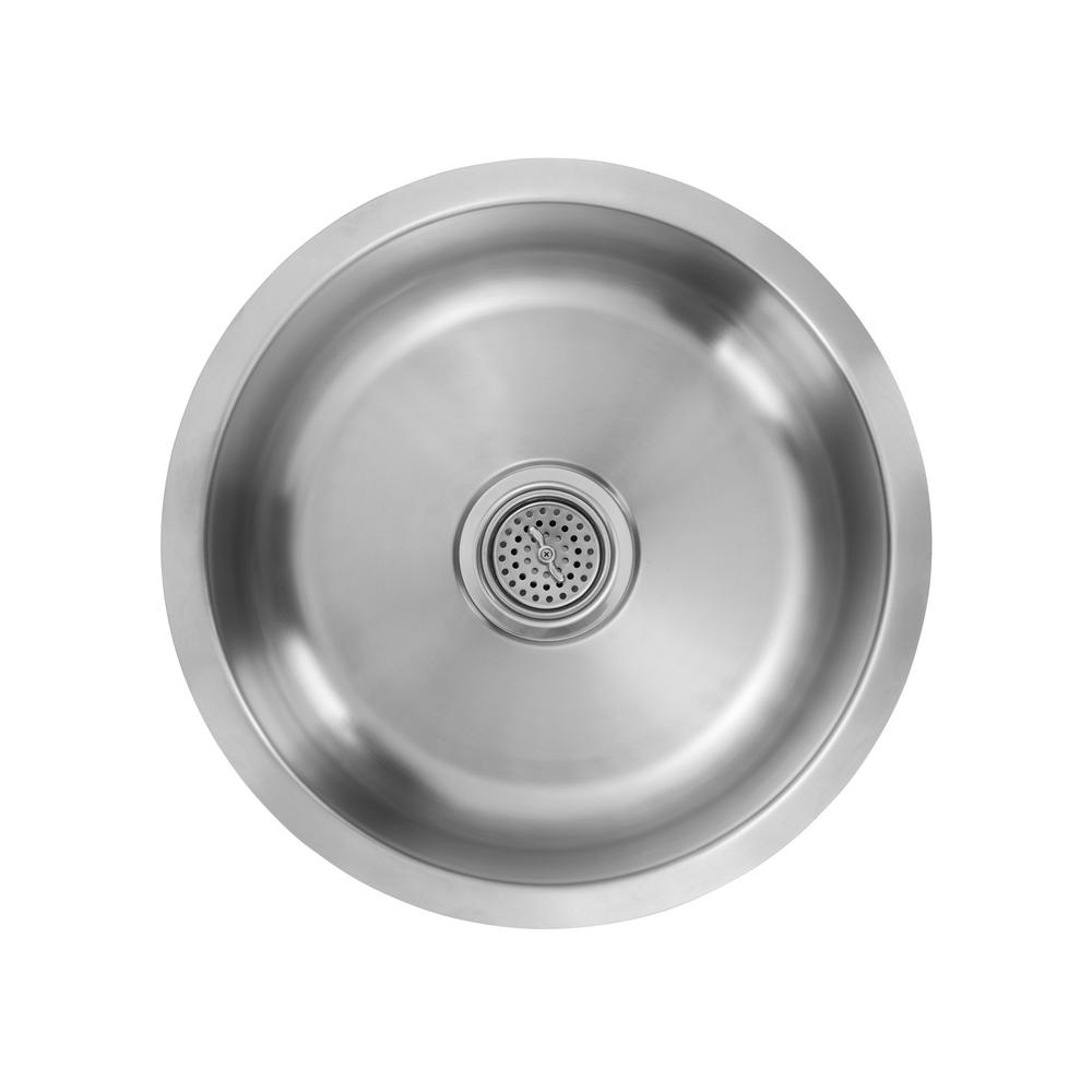 Ipt Sink Company Undermount 17 In 18 Gauge Stainless Steel Bar Brushed