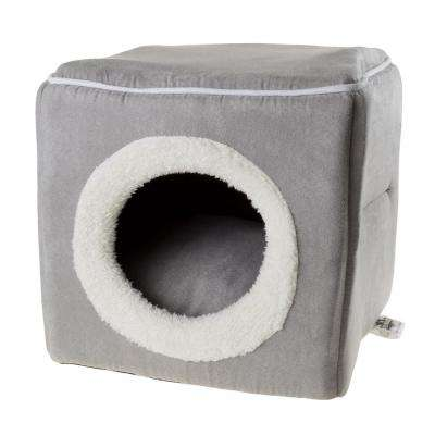 Small Grey Cozy Cave Pet Cube
