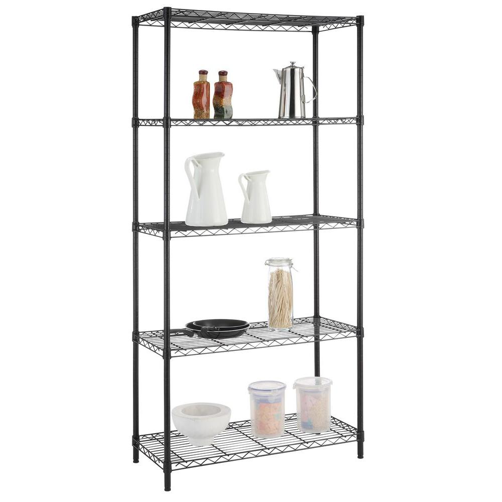 HDX 5-Shelf Black Wire Shelving Unit