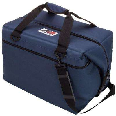 56 Qt. Canvas Cooler with Shoulder Strap and Wide Outside Pocket