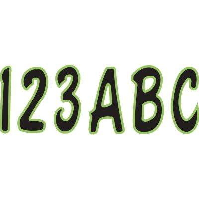 Series 200 Registration Kit Cursive Font with Top to Bottom Color Gradations in Black/Kiwi Green