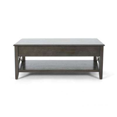 Decatur Farmhouse Grey Wooden Lift Top Coffee Table