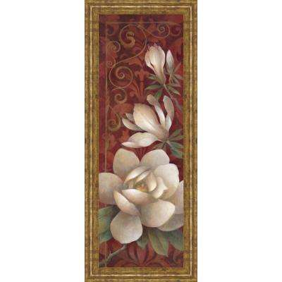 "18 in. x 42 in. ""Magnolia Melody I"" by Elaine Valherbst-Lane Framed Printed Wall Art"