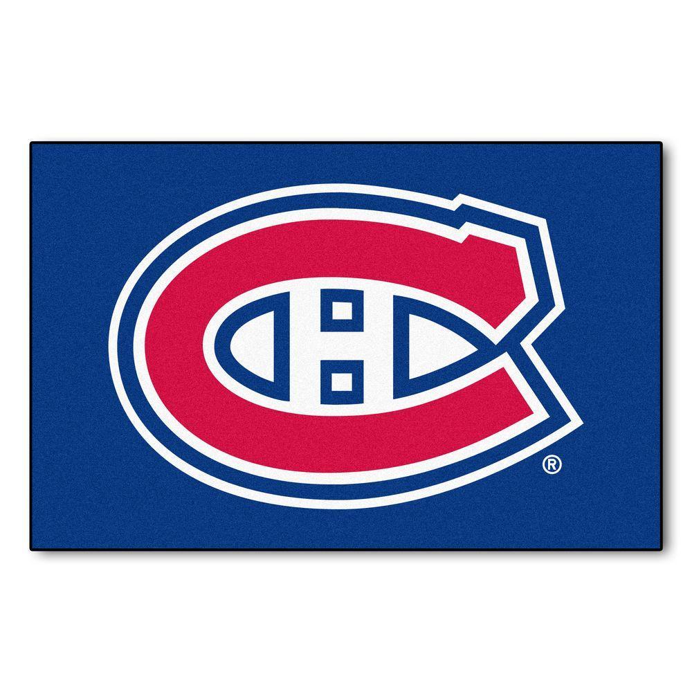 NHL Montreal Canadians 1 ft. 7 in. x 2 ft. 6 in. Indoor Starter Area Rug