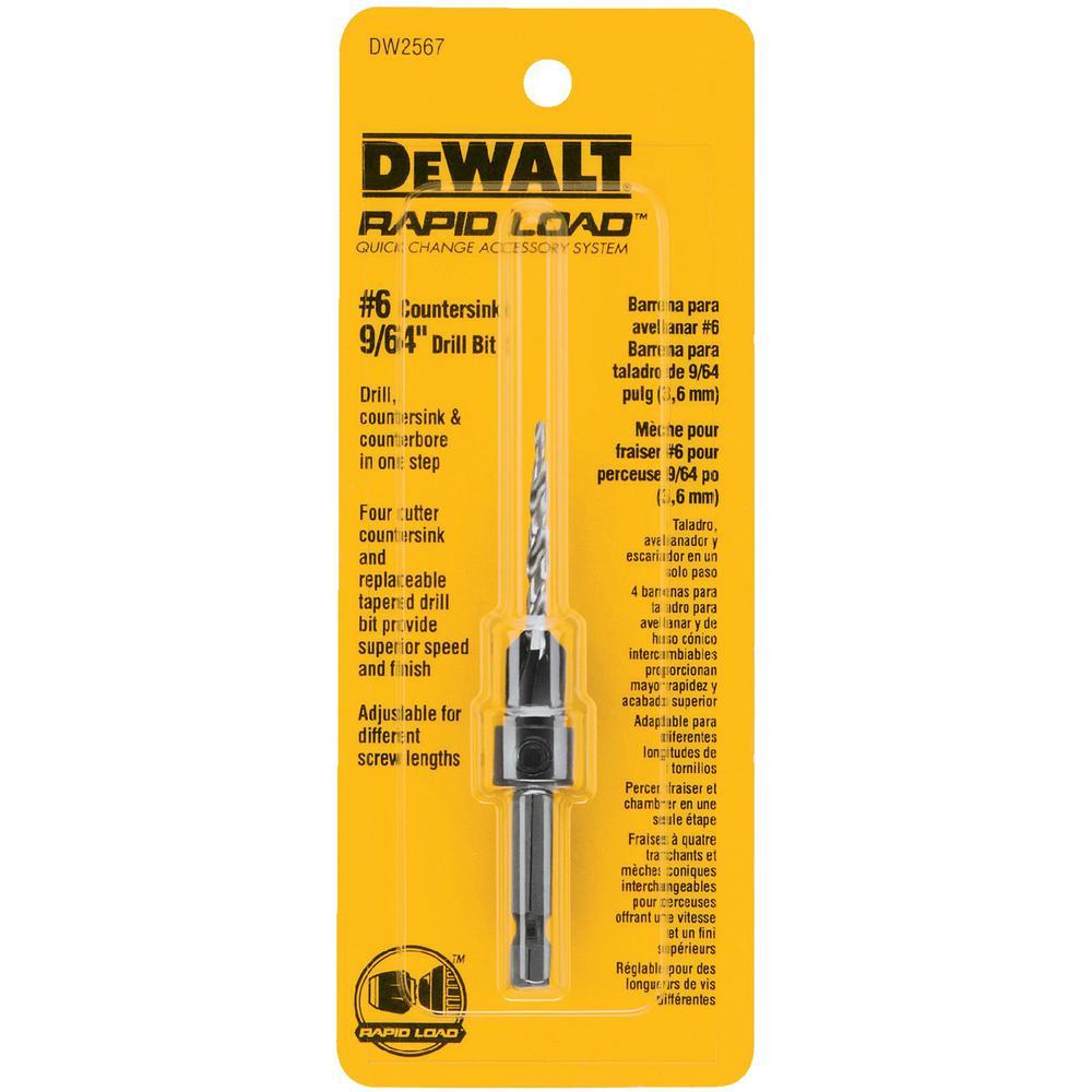 Dewalt 6 Countersink 964 In High Speed Steel Drill Bit Dw2567