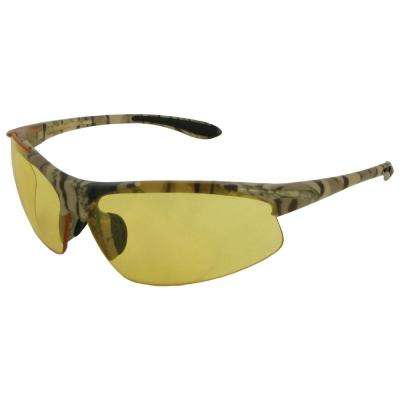 Commandos Eye Protection, Camo Frame/Amber Lens