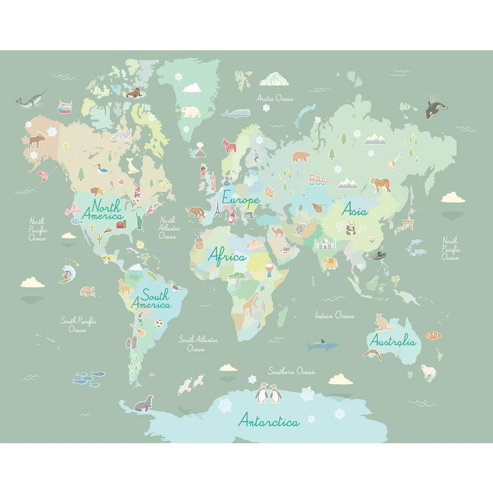 WallPops Where In The World Mural-WPM2856 - The Home Depot