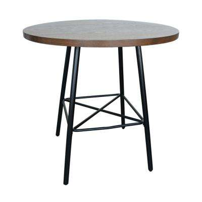 Illona Elm 36 in. Round Counter Height Bar Table