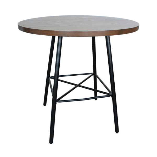 Carolina Forge Illona Elm 36 in. Round Counter Height Bar Table