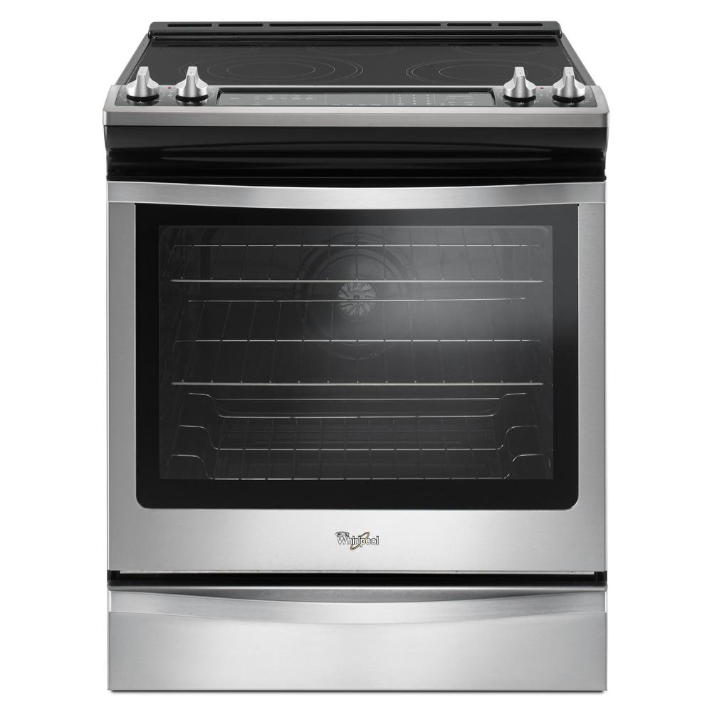 Whirlpool 6 4 Cu Ft Slide In Electric Range With True Convection Stainless