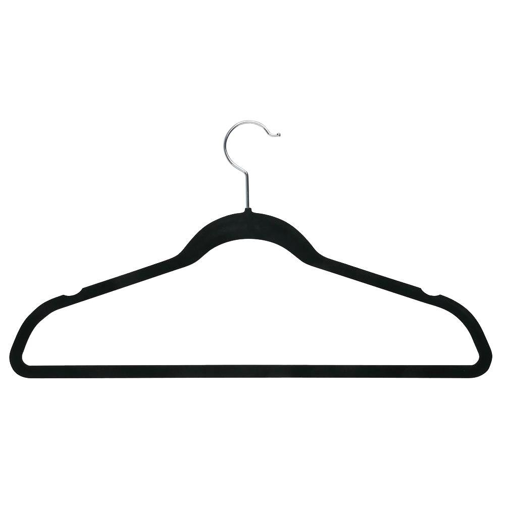 Velvet Black Touch Suit Hanger (20-Pack)