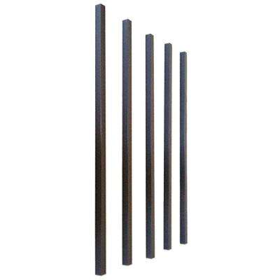 26 in. x 3/4 in. Charcoal Aluminum Square Deck Railing Baluster (5-Pack)