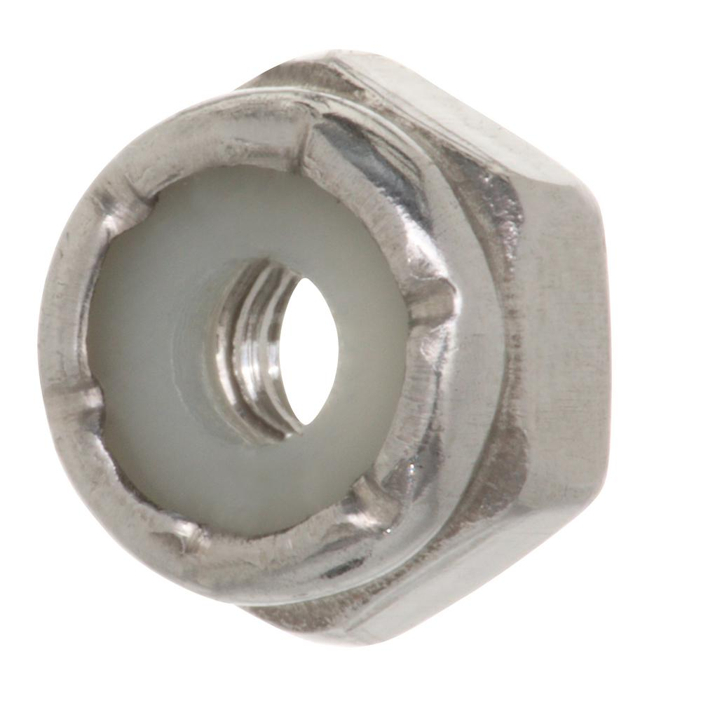 Lot Of 100 6 32 Nylon Insert Lock Nut 5 16 Hex Zinc Plated Steel Other Fasteners Hardware Ac Business Industrial