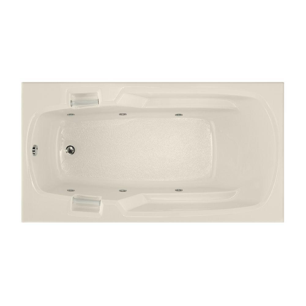 Studio 5 ft. Reversible Drain Whirlpool Tub in Biscuit