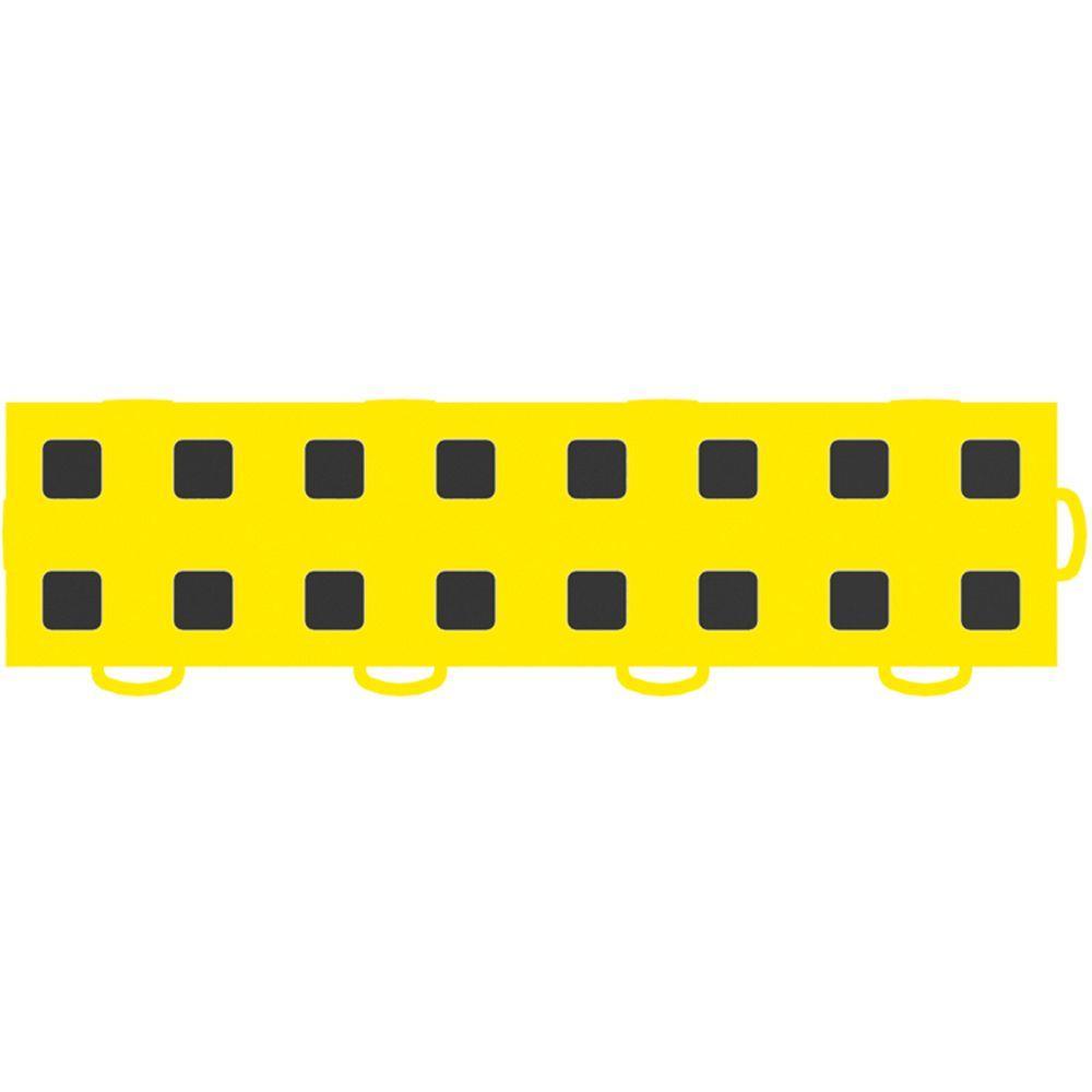 WeatherTech TechFloor 3 in. x 12 in. Yellow/Black Vinyl Flooring Tiles (Right Loop) (Quantity of 10)
