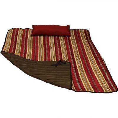 Outdoor Polyester Quilted Hammock Pad and Pillow