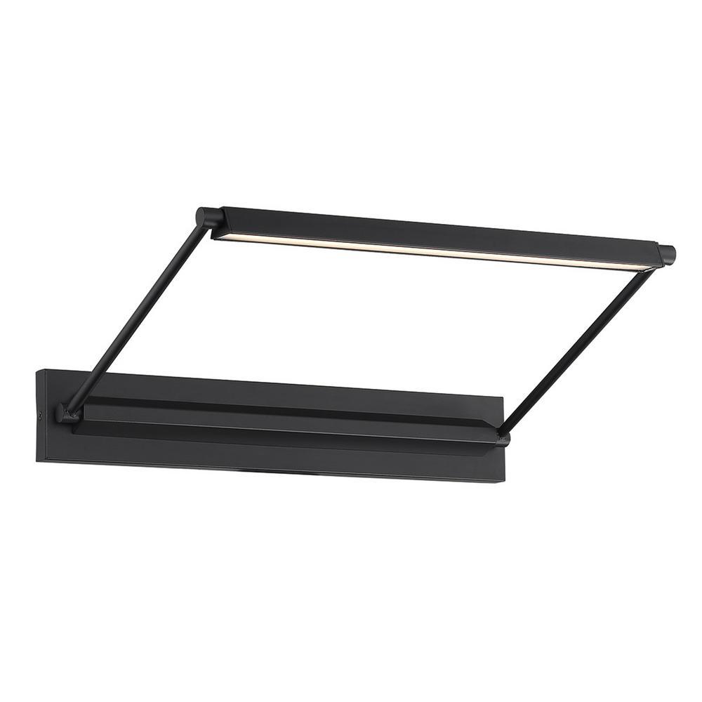 Hudson 17 in. Black LED Adjustable Picture Light, 3000K