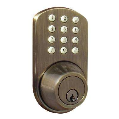 Keyless Entry Antique Brass Deadbolt