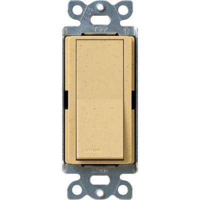 Claro On/Off Switch, 15-Amp, Single-Pole, Goldstone
