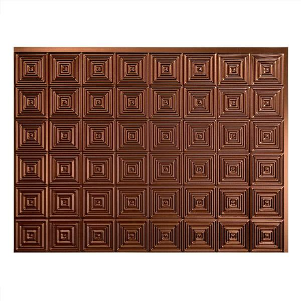 Fasade Miniquattro 18 in. x 24 in. Oil Rubbed Bronze Vinyl