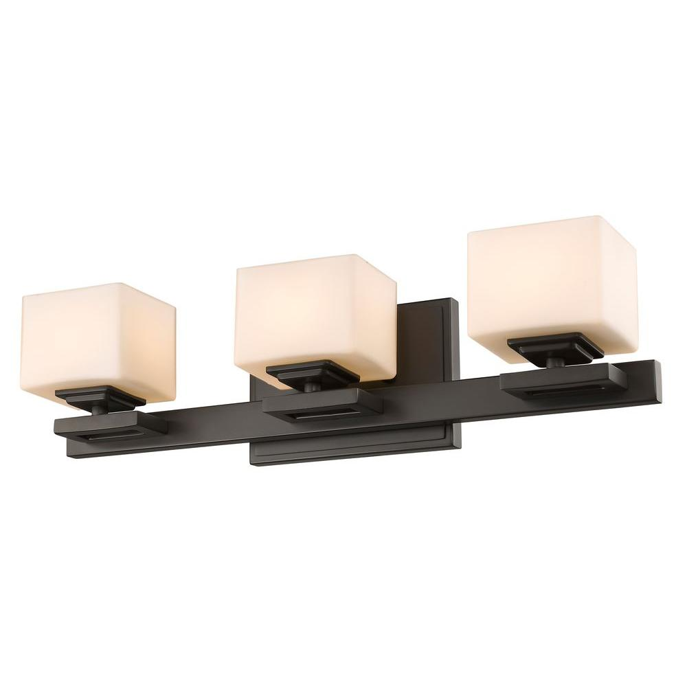 Zemka 3-Light Bronze Bath Vanity Light