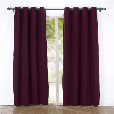 84 in. Solid Blackout Grommet Curtain Panel in Red