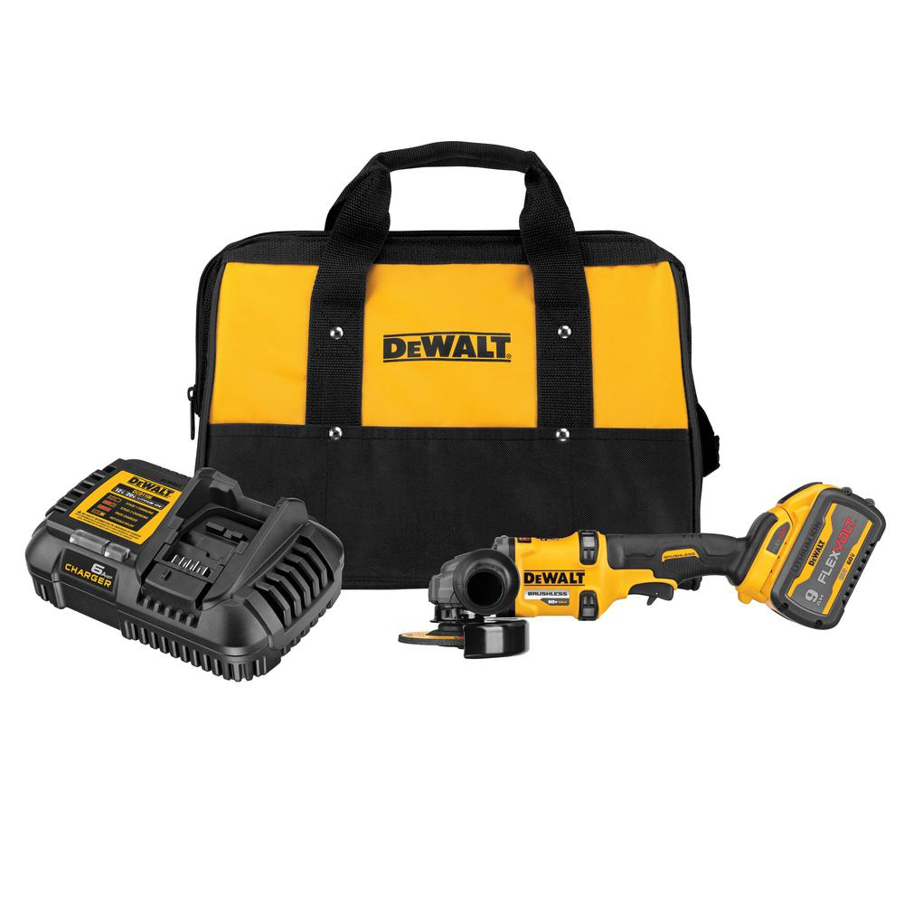 DEWALT 60-Volt MAX Lithium-Ion Cordless 4-1/2 in. - 6 in. Small Angle Grinder with No-Lock-On