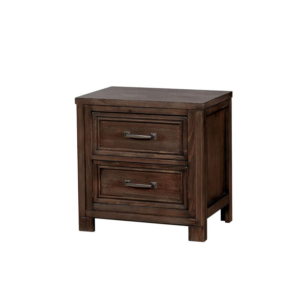 Brody 2-Drawer Dark Oak Nightstand