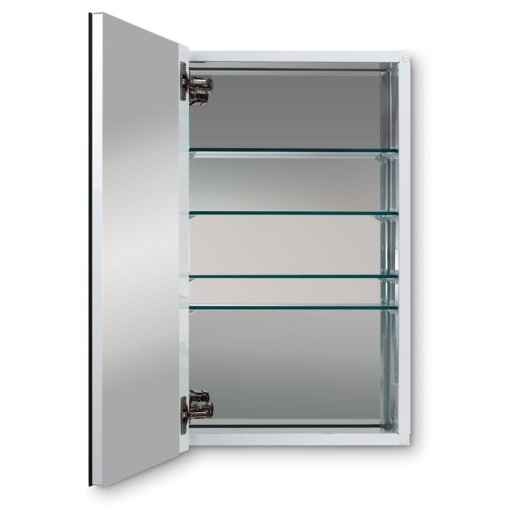 Metro Deluxe 15 in. W X 25 in. H Recessed or Surface Mount Mirrored ...