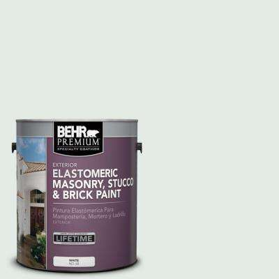 1 gal. #MS-63 White Clad Elastomeric Masonry, Stucco and Brick Exterior Paint