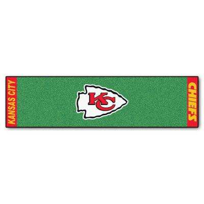 NFL Kansas City Chiefs 1 ft. 6 in. x 6 ft. Indoor 1-Hole Golf Practice Putting Green
