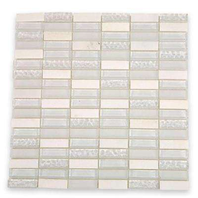Contempo Condensation Blend 12 in. x 12 in. x 8 mm Glass Mosaic Floor and Wall Tile