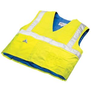 HyperKewl X-Large Cooling Traffic Safety Vest with High Visibility by HyperKewl
