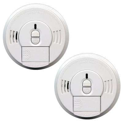 Hardwired 120-Volt Front Load Smoke Detector with Battery Back Up and Adapters (Twin Pack)
