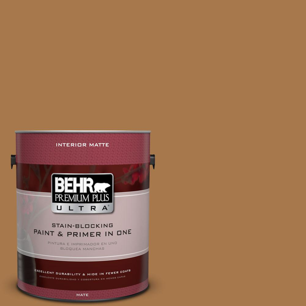 1 gal. #HDC-CL-18A Butter Caramel Matte Interior Paint and Primer in