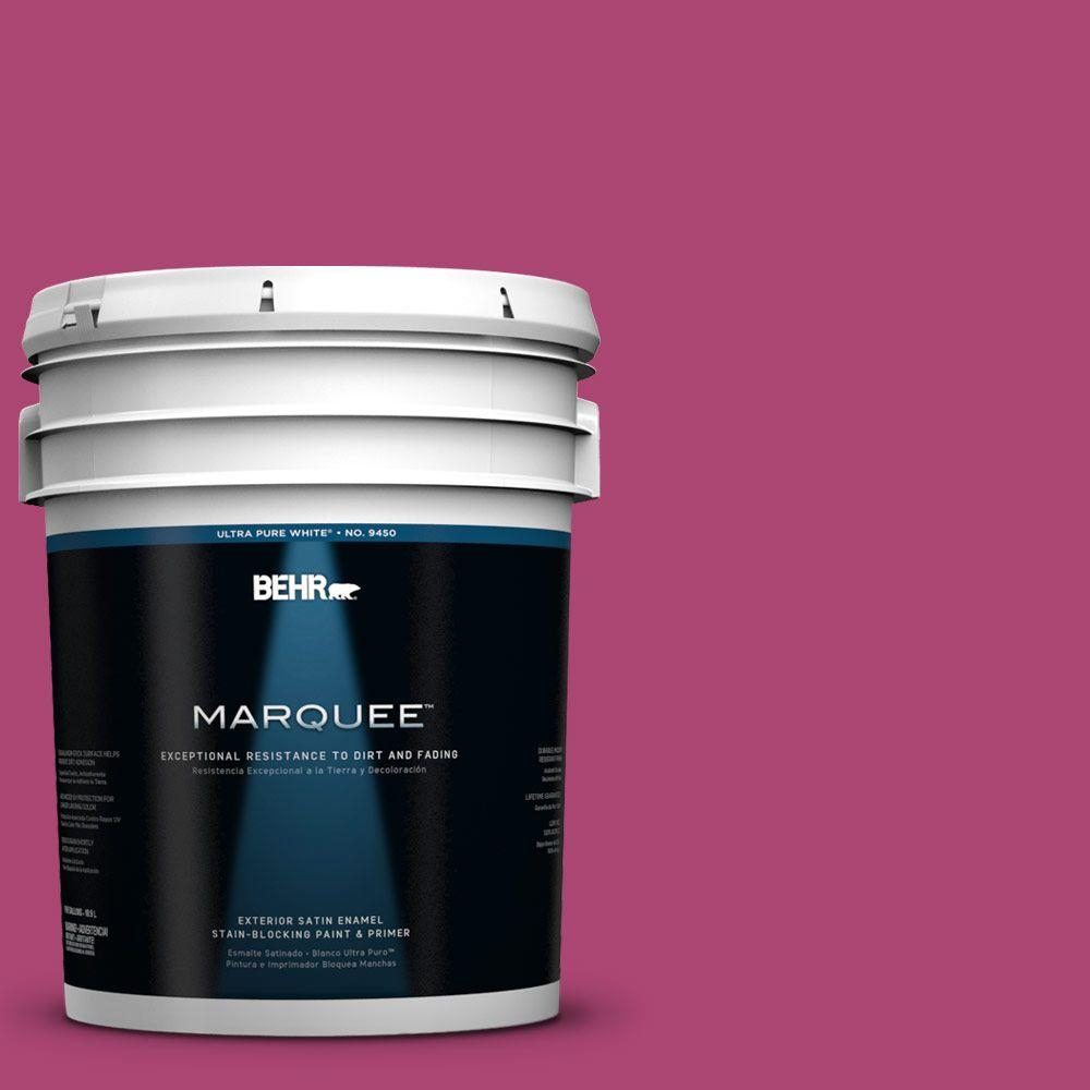 BEHR MARQUEE 5-gal. #100B-7 Hot Pink Satin Enamel Exterior Paint