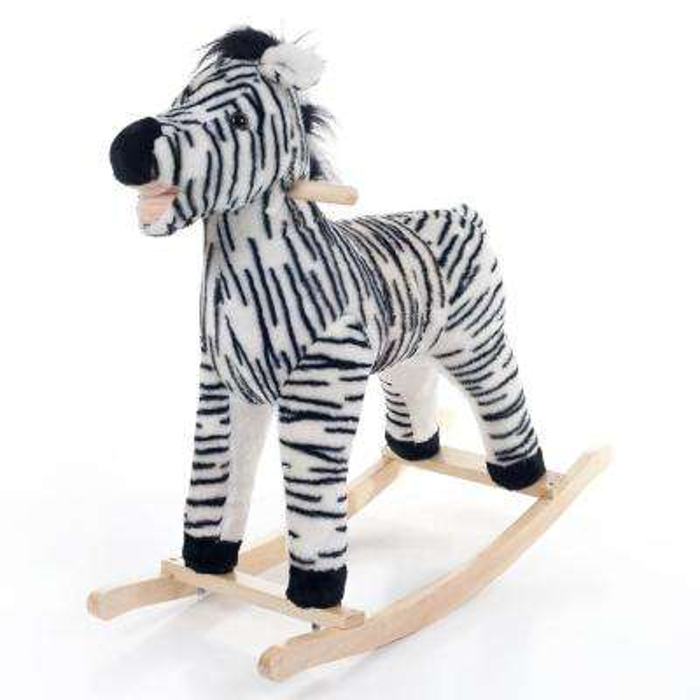 Black Zebra Plush Rocking Animal