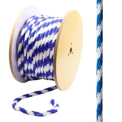 5/8 in. x 200 ft. Polypropylene Solid Braid Rope, Blue and White