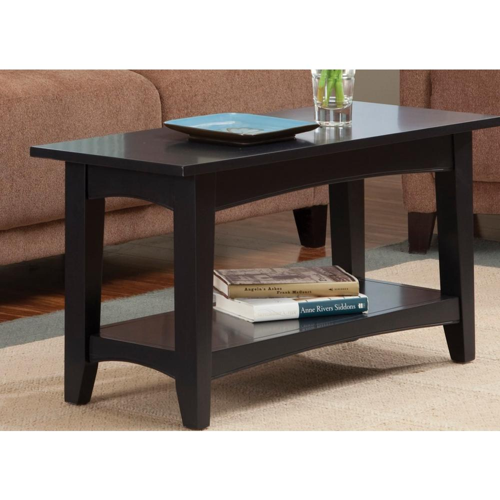 Beau Alaterre Furniture Black Storage Bench